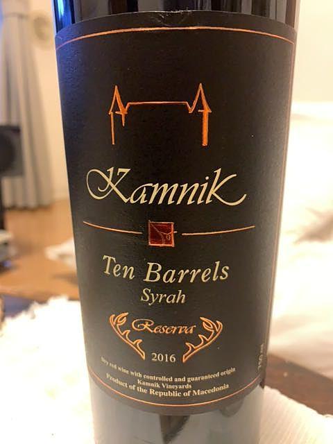 Kamnik Ten Barrels Reserve Syrah(カムニック テン・バレルズ リザーヴ シラー)