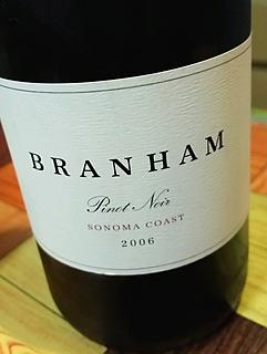 Branham Pinot Noir Sonoma Coast(ブランハム ピノ・ノワール ソノマ・コースト)