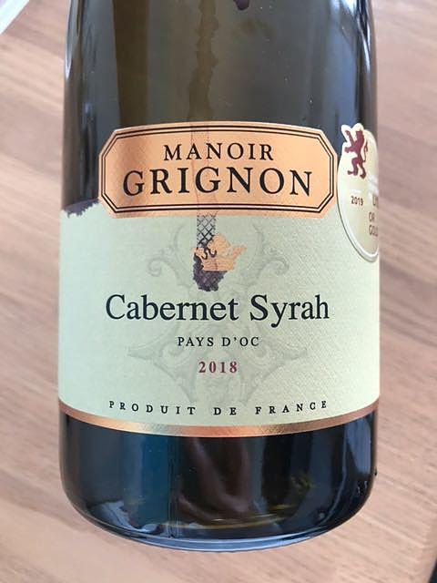 Manoir Grignon Cabernet Syrah(マノワール・グリニョン カベルネ シラー)