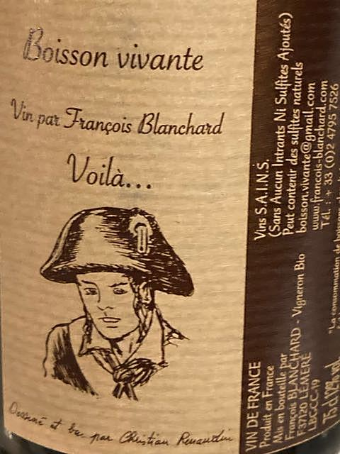 François Blanchard Boisson Vivante Voila