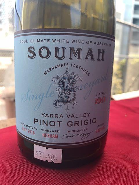 Soumah Single Vineyard Pinot Grigio