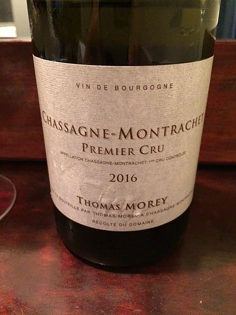 Thomas Morey Chassagne Montrachet 1er Cru(トーマス・モレ シャサーニュ・モンラッシェ プルミエ・クリュ)
