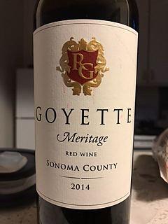 Goyette Meritage Red(ゴイエット メリタージュ レッド)