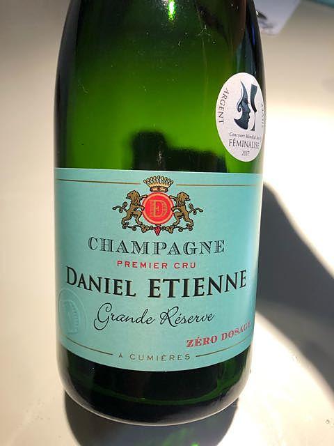 Daniel Etienne Grande Réserve Zéro Dosage 1er Cru(ダニエル・エティエンヌ グランド・レゼルヴ ゼロ・ドサージュ プルミエ・クリュ)
