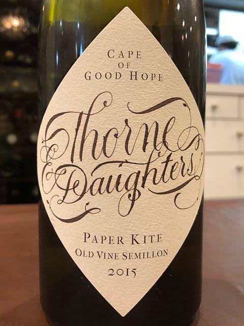 Thorne & Daughters Paper Kite Old Vine Semillon