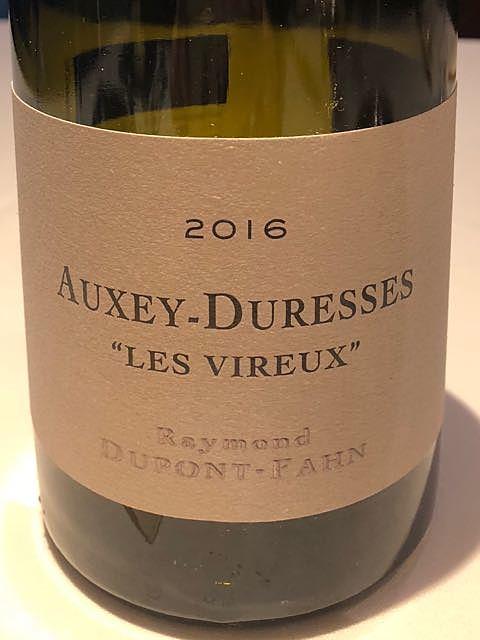 Dom. Dupont Fahn Auxey Duresses Les Vireux