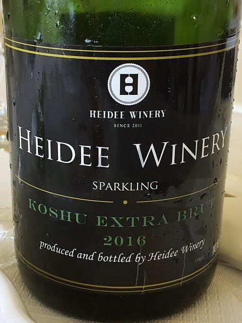 Heidee Winery Koshu Extra Brut Sparkling(ハイディ・ワイナリー コウシュウ・エキストラ・ブリュット スパークリング)