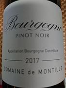 ドメーヌ・ド・モンティーユ ブルゴーニュ ピノ・ノワール(2017)