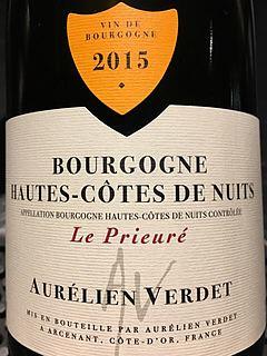 Aurélien Verdet Bourgogne Hautes Côtes de Nuits Le Prieuré Rouge