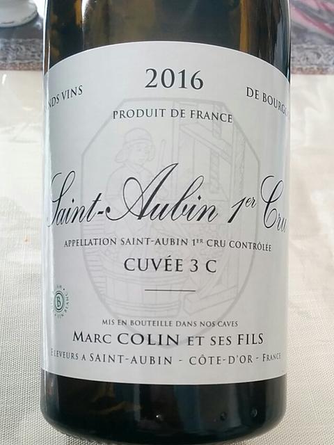 Marc Colin et ses Fils Saint Aubin 1er Cru Cuvée 3 C(マルク・コラン・エ・セ・フィス サントーバン プルミエ・クリュ キュヴェ 3 C)