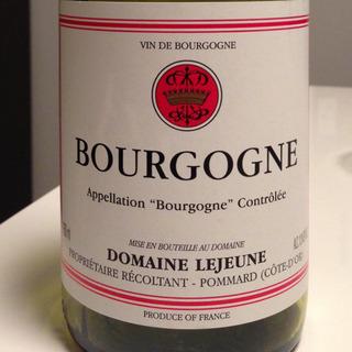 Dom. Lejeune Bourgogne Rouge(ドメーヌ・ルジューヌ ブルゴーニュ・ルージュ)