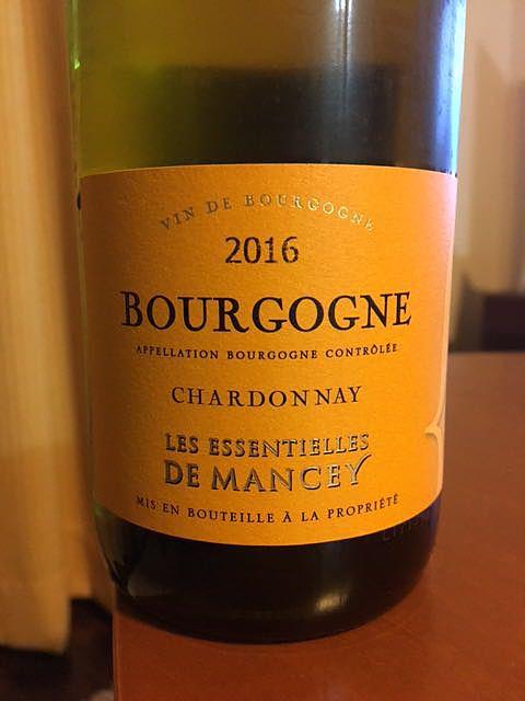 Les Essentielles de Mancey Bourgogne Chardonnay(レ・エッセンティエーユ・ド・マンセイ ブルゴーニュ シャルドネ)