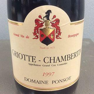 Dom. Ponsot Griotte Chambertin(ドメーヌ・ポンソ グリオット・シャンベルタン)