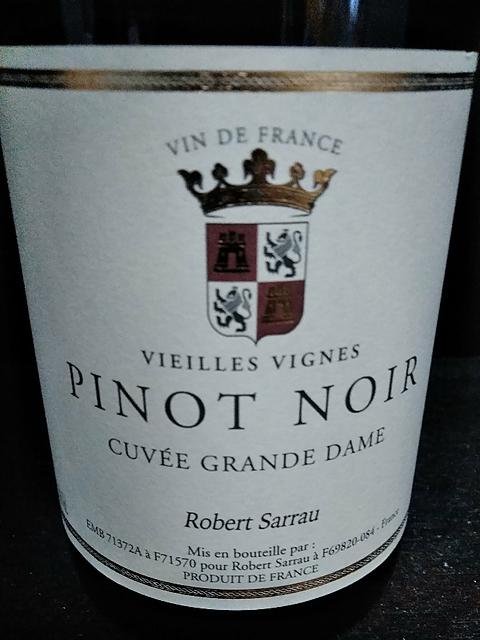 Robert Sarrau Pinot Noir Cuvée Grande Dame Vieilles Vignes(ロベール・サルー ピノ・ノワール キュヴェ・グラン・ダム ヴィエイユ・ヴィーニュ)