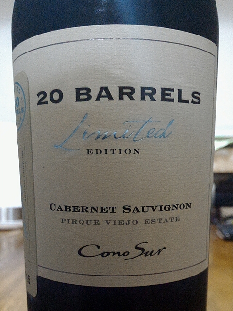 Cono Sur 20 Barrels Cabernet Sauvignon Limited Edition(コノ・スル 20・バレル カベルネ・ソーヴィニヨン リミテッド・エディション)