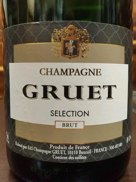 champagne gruet brut sélection(グルエ ブリュット・セレクション)