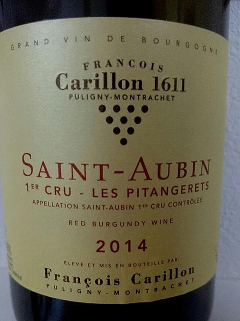 François Carillon Saint Aubin 1er Cru Les Pitangerets