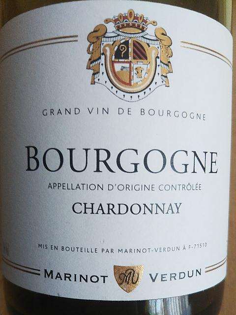 Marinot Verdun Bourgogne Chardonnay(マリノ・ヴェルダン ブルゴーニュ シャルドネ)