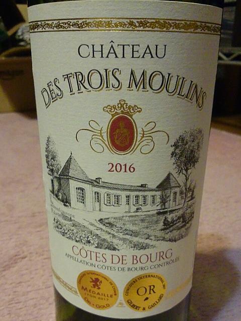 Ch. des Trois Moulins Côtes de Bourg(シャトー・デ・トロワ・ムーラン コート・ド・ブール)