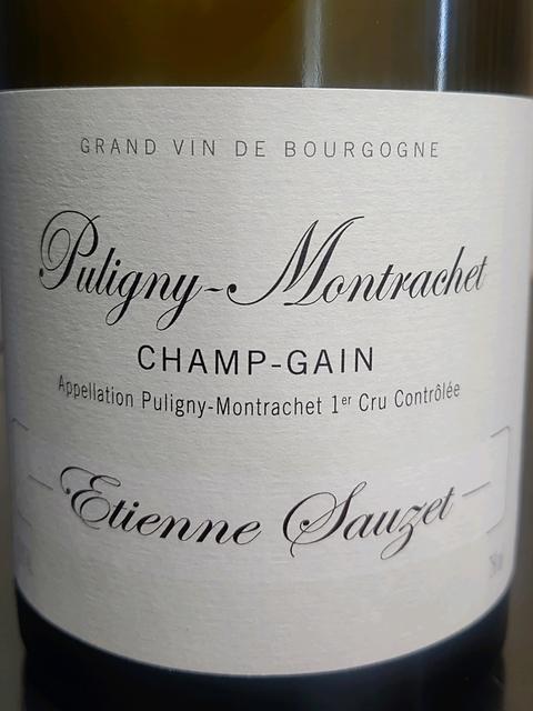 Etienne Sauzet Puligny Montrachet 1er Cru Champ Gain