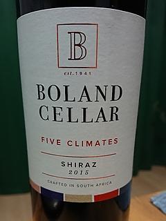 Boland Cellar Five Climates Shiraz(ボーランド・セラー ファイヴ・クライメイツ シラーズ)