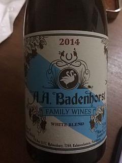 A.A. Badenhorst Family Wines White Blend 2014(アディ・バーデンホースト・ファミリー・ワインズ ホワイト・ブレンド)