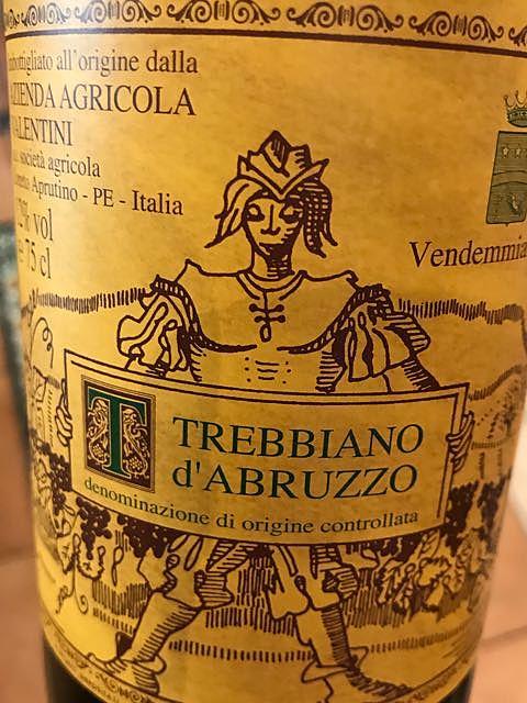 Valentini Trebbiano d'Abruzzo(ヴァレンティーニ トレッビアーノ・ダブルッツォ)