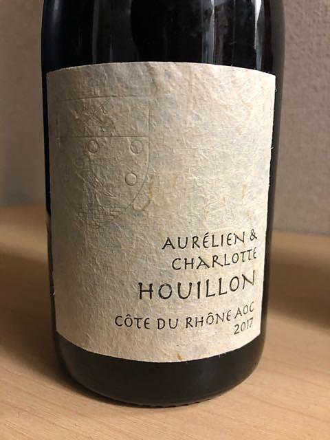 Aurélien & Charlotte Houillon Côtes du Rhône Tonneaux 2017(オーレリアン・エ・シャルロット・ウイヨン コート・デュ・ローヌ トノー)