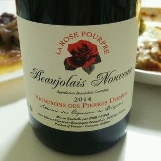 Vignerons des Pierres Dorées La Rose Pourpre Beaujolais Nouveau