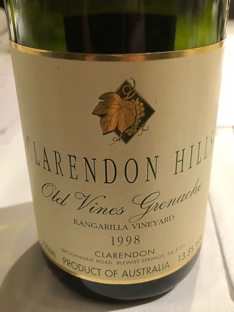 Clarendon Hills Kangarilla Old Vines Grenache(クラレンドン・ヒルズ カンガリラ オールド・ヴァイン グルナッシュ)