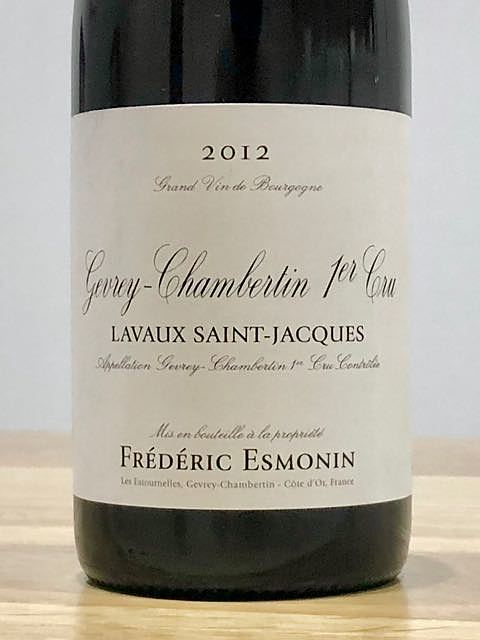 Frédéric Esmonin Gevrey Chambertin 1er Cru Lavaux Saint Jacques
