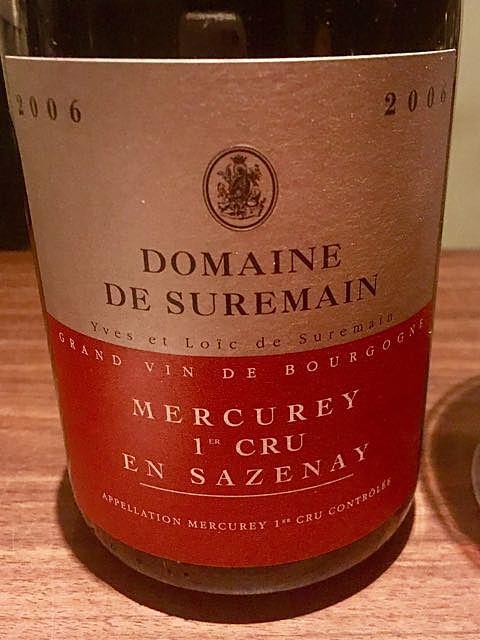 Dom. de Suremain Mercurey 1er Cru En Sazenay Rouge(ドメーヌ・ド・シュルマン メルキュレ プルミエ・クリュ アン・サズネー ルージュ)