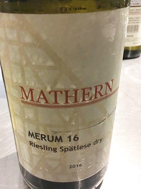 Mathern Merum 16 Riesling Spätlese(マテルン メルム リースリング シュペートレーゼ)