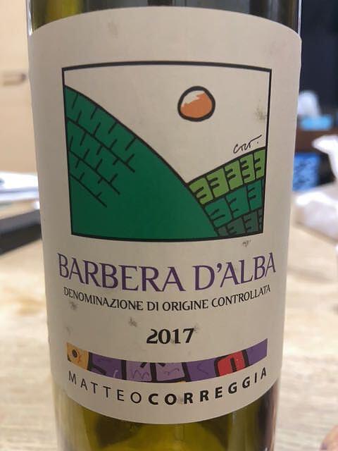 Matteo Correggia Barbera d'Alba(マッテオ・コレッジア バルベーラ・ダルバ)
