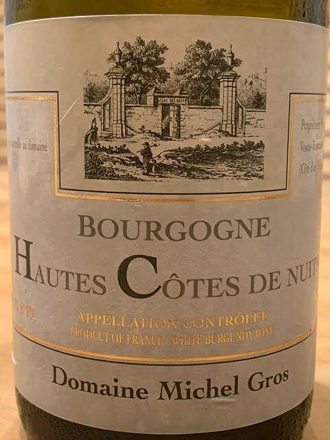 Dom. Michel Gros Bourgogne Hautes Côtes de Nuits Blanc(ドメーヌ・ミッシェル・グロ ブルゴーニュ オート・コート・ド・ニュイ ブラン)