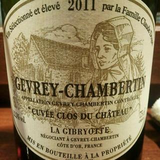 La Gibryotte Gevrey Chambertin Cuvée Clos du Château