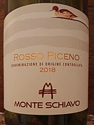 モンテ・スキアーヴォ ロッソ・ピチェーノ(2018)