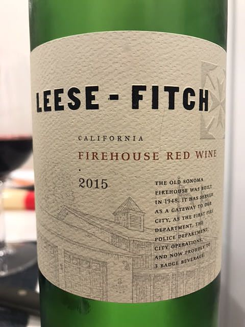 Leese Fitch California Firehouse Red Wine(リーズ・フィッチ カリフォルニア ファイアーハウス レッド・ワイン)