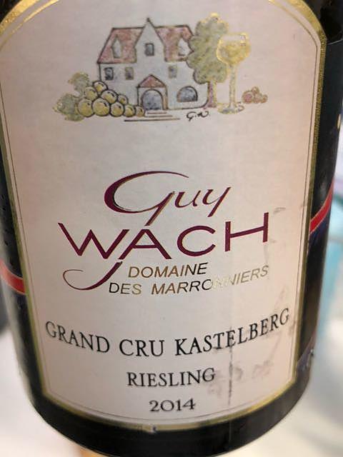 Guy Wach Grand Cru Kastelberg Riesling(ギイ・ヴァッハ グラン・クリュ カステルベルグ リースリング)