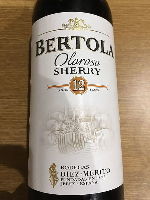 Bertola Oloroso Sherry 12 Años(ベルトラ オロロソ シェリー)