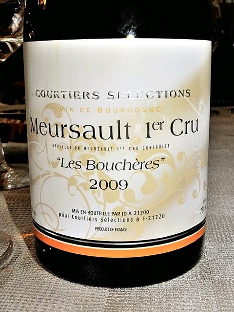 Courtiers Selections Meursault 1er Cru Les Bouchères(クルティエ・セレクション ムルソー プルミエ・クリュ レ・ブシェール)