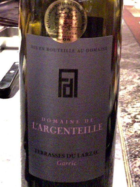 Dom. de l'Argenteille Garric Terrasses du Larzac Rouge(ドメーヌ・ド・ラルジョンティ ガリック テラス・デュ・ラルザック ルージュ)