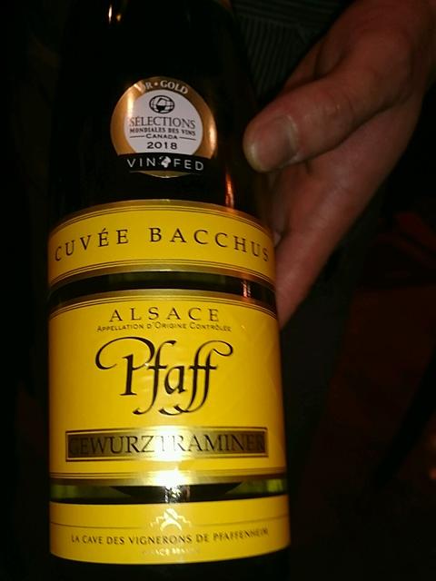 Pfaff Gewürztraminer Cuvée Bacchus(ファッフ ゲヴェルツトラミネール キュヴェ・バッカス)