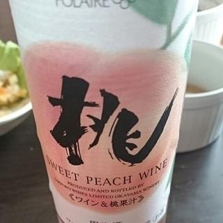 サッポロ Polaire 桃のワイン