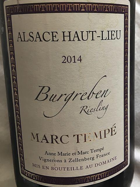 Marc Tempé Riesling Burgreben
