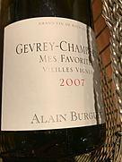アラン・ビュルゲ ジュヴレ・シャンベルタン メ・ファヴォリット ヴィエイユ・ヴィーニュ(2007)