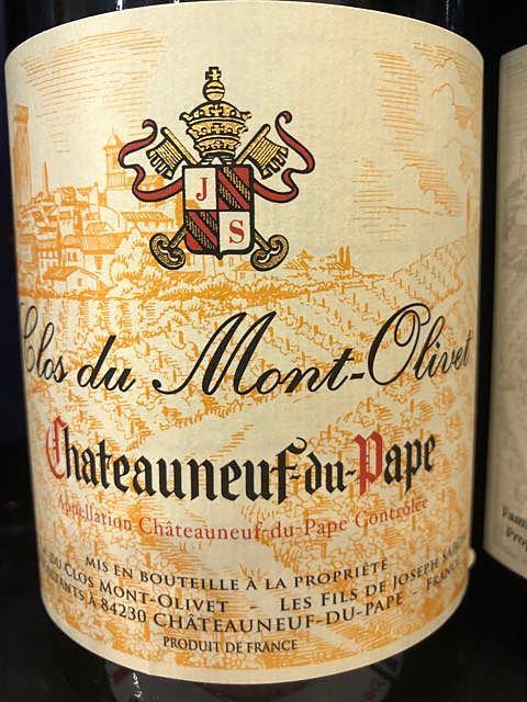 Clos du Mont Olivet Châteauneuf du Pape Rouge(クロ・デュ・モン・オリヴェ シャトーヌフ・デュ・パプ ルージュ)
