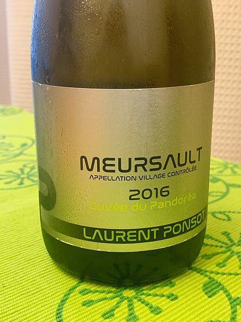 Laurent Ponsot Meursault Cuvée du Pandoréa(ローラン・ポンソ ムルソー キュヴェ・デュ・パンドレア)