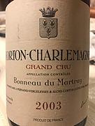 ボノー・デュ・マルトレ コルトン・シャルルマーニュ グラン・クリュ(2003)