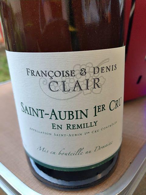 Françoise & Denis Clair Saint Aubin 1er Cru En Remilly(フランソワーズ・エ・ドニ・クレール サン・トーバン プルミエ・クリュ アン・レミィ)